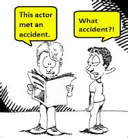 Write a newspaper story reporting the accident
